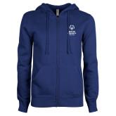 ENZA Ladies Royal Fleece Full Zip Hoodie-Primary Mark Vertical
