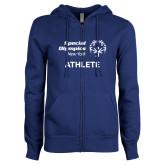 ENZA Ladies Royal Fleece Full Zip Hoodie-Athlete