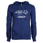 ENZA Ladies Royal Fleece Full Zip Hoodie-Coach