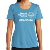 Ladies Syntrel Performance Light Blue Tee-Grandma