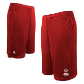 Russell Performance Red 10 Inch Short w/Pockets-Primary Mark Vertical