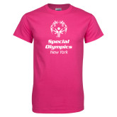 Cyber Pink T Shirt-Primary Mark Vertical