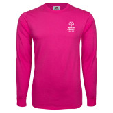 Cyber Pink Long Sleeve T Shirt-Primary Mark Vertical
