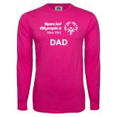 Cyber Pink Long Sleeve T Shirt-Dad