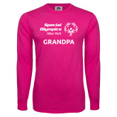 Cyber Pink Long Sleeve T Shirt-Grandpa