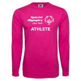 Cyber Pink Long Sleeve T Shirt-Athlete