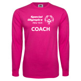 Cyber Pink Long Sleeve T Shirt-Coach