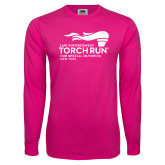Cyber Pink Long Sleeve T Shirt-Law Enforcement Torch Run