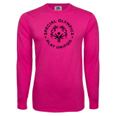 Cyber Pink Long Sleeve T Shirt-Play Unified