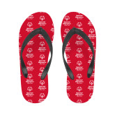 Ladies Full Color Flip Flops-Primary Mark Vertical