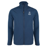 Navy Softshell Jacket-Primary Mark Vertical