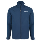 Navy Softshell Jacket-Primary Mark Horizontal