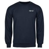 Navy Fleece Crew-Primary Mark Horizontal