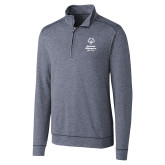 Cutter & Buck Shoreline Navy 1/2 Zip-Primary Mark Vertical