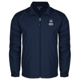 Full Zip Navy Wind Jacket-Primary Mark Vertical