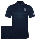 Adidas Climalite Navy Grind Polo-Primary Mark Vertical