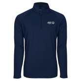 Sport Wick Stretch Navy 1/2 Zip Pullover-Primary Mark Horizontal