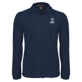 Fleece Full Zip Navy Jacket-Primary Mark Vertical