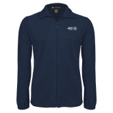 Fleece Full Zip Navy Jacket-Primary Mark Horizontal