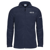 Columbia Full Zip Navy Fleece Jacket-Primary Mark Horizontal