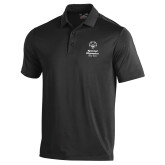 Under Armour Black Performance Polo-Primary Mark Vertical