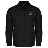 Full Zip Black Wind Jacket-Primary Mark Vertical