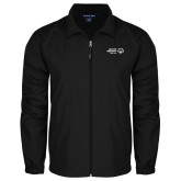 Full Zip Black Wind Jacket-Primary Mark Horizontal