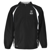 Holloway Hurricane Black/White Pullover-Primary Mark Vertical