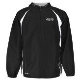 Holloway Hurricane Black/White Pullover-Primary Mark Horizontal