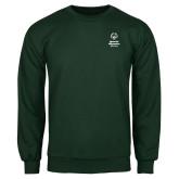 Dark Green Fleece Crew-Primary Mark Vertical