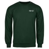 Dark Green Fleece Crew-Primary Mark Horizontal