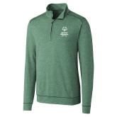 Cutter & Buck Shoreline Green 1/2 Zip-Primary Mark Vertical