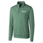 Cutter & Buck Shoreline Green 1/2 Zip-Primary Mark Horizontal