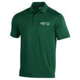 Under Armour Dark Green Performance Polo-Primary Mark Horizontal