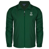Full Zip Dark Green Wind Jacket-Primary Mark Vertical
