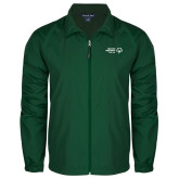 Full Zip Dark Green Wind Jacket-Primary Mark Horizontal