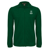 Fleece Full Zip Dark Green Jacket-Primary Mark Vertical
