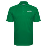 Kelly Green Textured Saddle Shoulder Polo-Primary Mark Horizontal