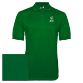 Kelly Green Dry Mesh Polo-Primary Mark Vertical