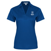 Ladies Royal Performance Fine Jacquard Polo-Primary Mark Vertical