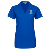 Ladies Royal Dry Zone Grid Polo-Primary Mark Vertical