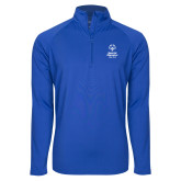 Sport Wick Stretch Royal 1/2 Zip Pullover-Primary Mark Vertical