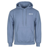 Light Blue Fleece Hoodie-Primary Mark Horizontal