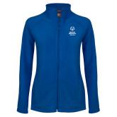 Ladies Fleece Full Zip Royal Jacket-Primary Mark Vertical