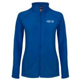Ladies Fleece Full Zip Royal Jacket-Primary Mark Horizontal