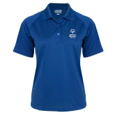 Ladies Royal Textured Saddle Shoulder Polo-Primary Mark Vertical