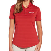 Ladies Callaway Horizontal Textured Deep Red Polo-Primary Mark Horizontal