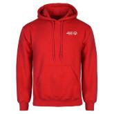 Red Fleece Hoodie-Primary Mark Horizontal