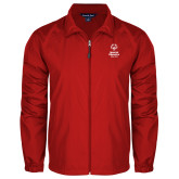 Full Zip Red Wind Jacket-Primary Mark Vertical
