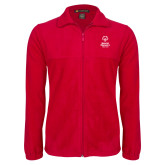 Fleece Full Zip Red Jacket-Primary Mark Vertical